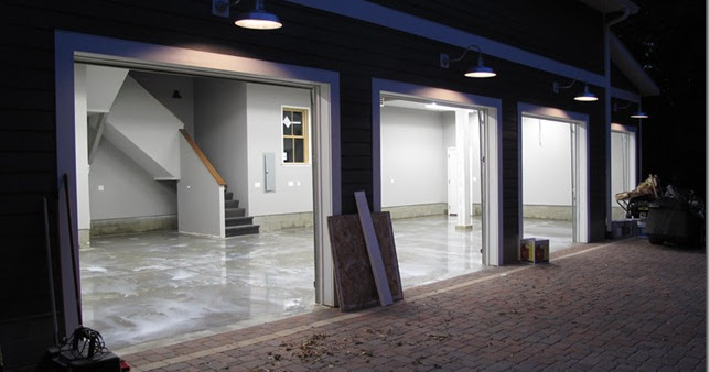 The Quot L Quot Shaped House Garage Sealing The Floor