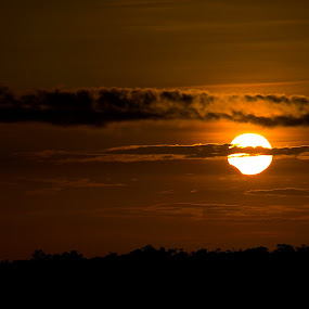 Partial Eclipse at Sunrise by Siggy In Costa Rica - Landscapes Sunsets & Sunrises ( partial eclipse, sunrise, eclipse )