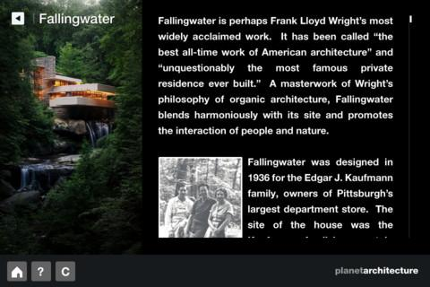 F. L. Wright – Fallingwater - screenshot