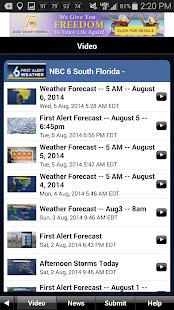 NBC 6 South Florida Weather- screenshot thumbnail