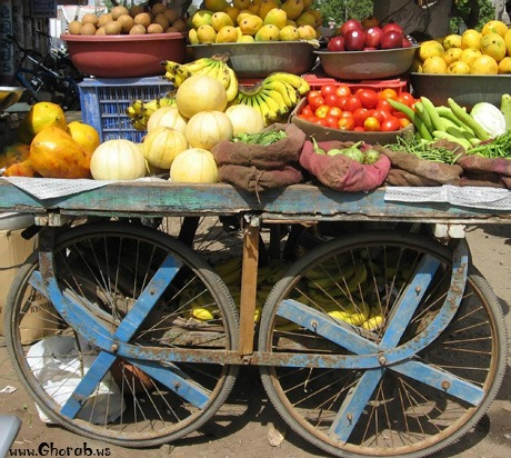 vegetable cart - عربة الخضار