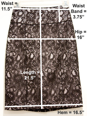 H&M Petite Lace Skirt Measurements