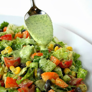 Southwestern Chopped Salad with Cilantro Dressing