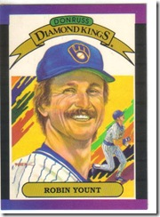Robin Yount 89 Donruss Diamond King