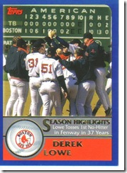 Card 19 Derek Lowe No-Hitter