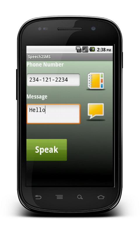 USpeak : Speech2sms - screenshot