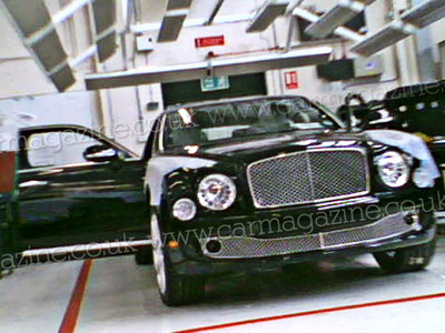 There were photos of new flagman sedan Bentley