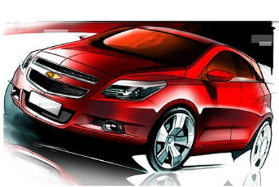 Company Chevrolet has shown images of a new hatchback