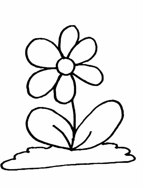 Flores Y Arboles Para Colorear