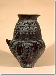 Edad del hierro Urna Bicónica
