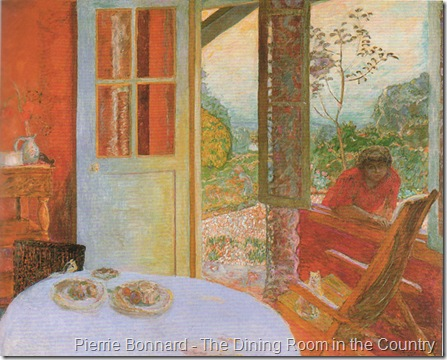 Bonnard the dining room in the country