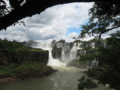 Iguacu river at the falls