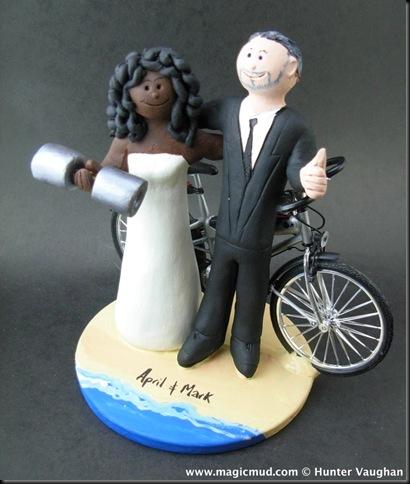 Custom Wedding Cake Toppers Racially Mixed Wedding Cake