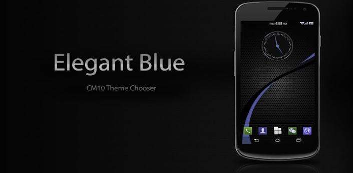CM10 - Elegant Blue Theme apk