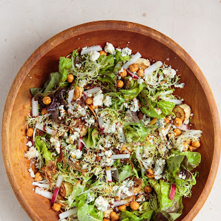 Roasted Parsnip Salad with Hazelnuts, Blue Cheese, and Wheat Beer Vinaigrette Recipe