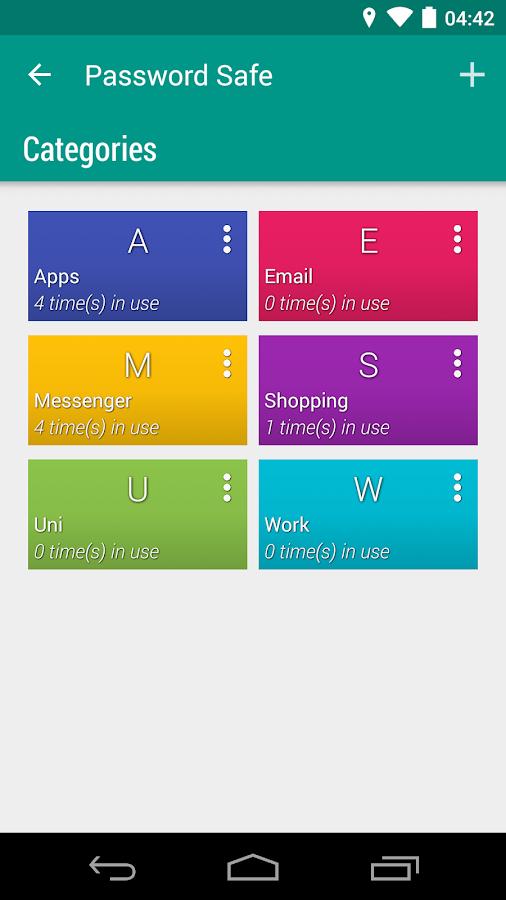 Password Safe- screenshot