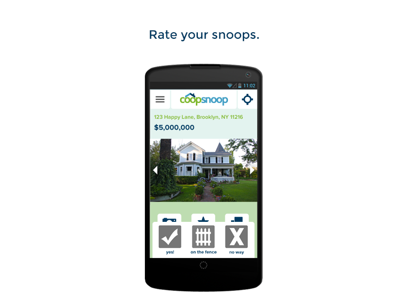 CoopSnoop Real Estate Tool- screenshot