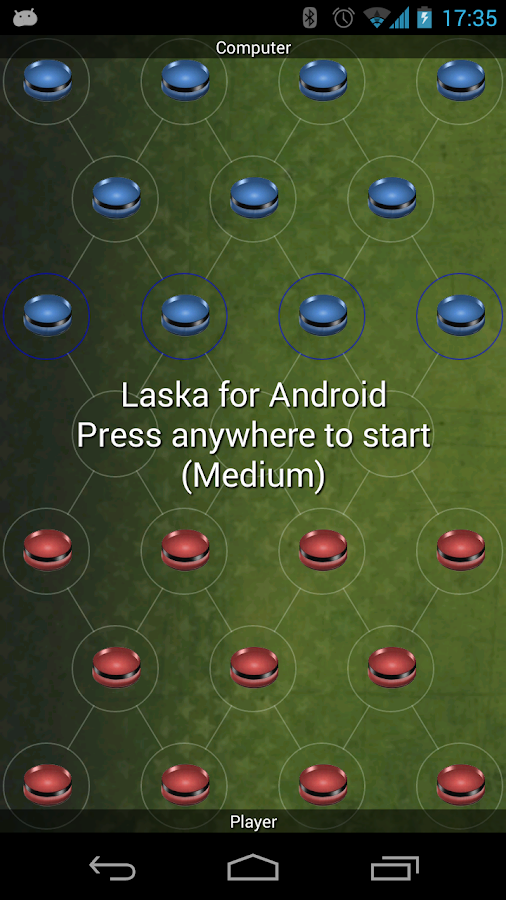 Laska Strategy Game (light) - screenshot