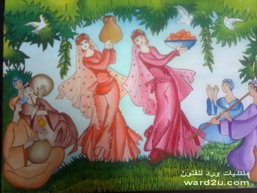 لوحاتى القديمه بالالوان المائيه