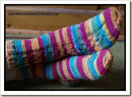 Tresse socks - finished