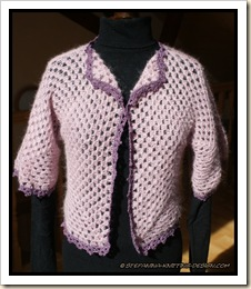 Loukoum - granny shrug - finished