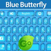 GO Keyboard Blue Butterfly