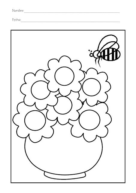 Colorea Dibujos Infantiles De La Primavera