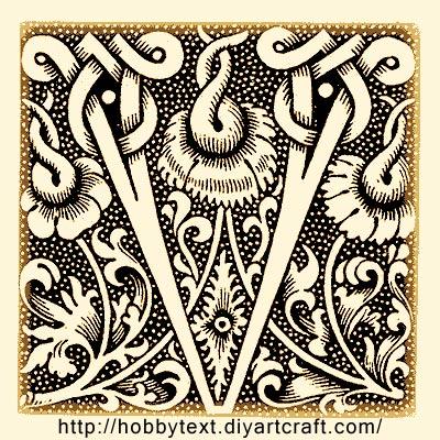 Font decorativo stile gotico per bricolage creativo tattoo for Bricolage creativo