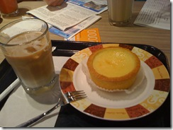焦糖拿鐵+法式乳酪塔