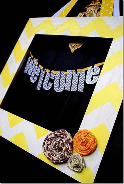 chevron welcome door hanging