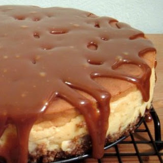 Banana-Rum Cheesecake with Caramel Sauce