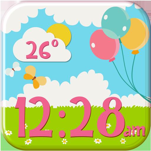 少女的时钟和天气小工具 天氣 App LOGO-硬是要APP
