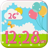 Girly Weather and Clock Widget