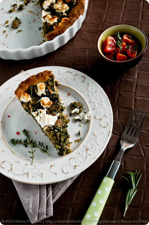 Kale Mushroom and Goat Cheese Buckwheat Tart (02) by MeetaK