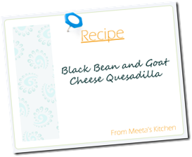 Meeta Recipe Card quesadillas