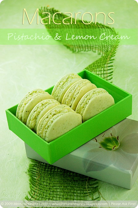 Pistachio Lemon Cream Macarons (02) by MeetaK