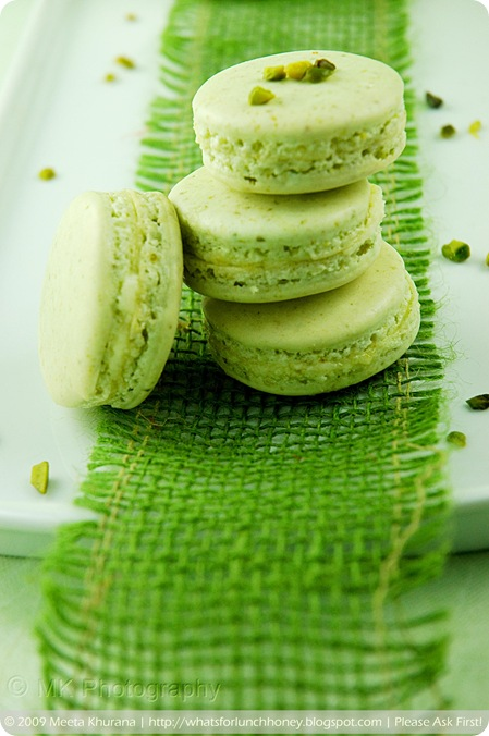 Pistachio Lemon Cream Macarons (01) by MeetaK