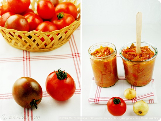Tomato Apricot Chutney Collage (01) by MeetaK