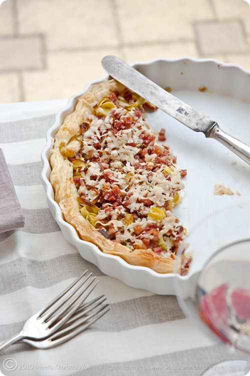 Bacon Cheese Leek Tart (0081) by MeetaK