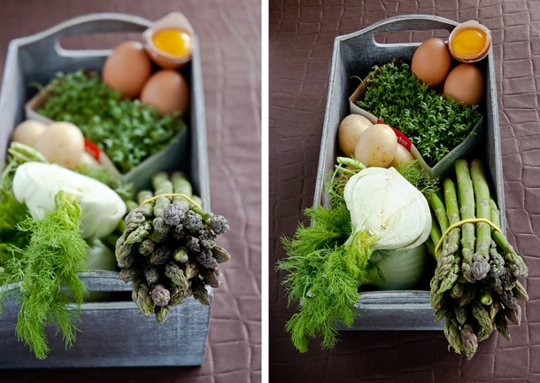 Diptych Spring Veggies by Meeta K. Wolff