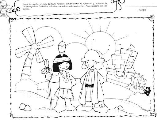 Dibujos Para Colorear Sobre Historia Cristobal Colon