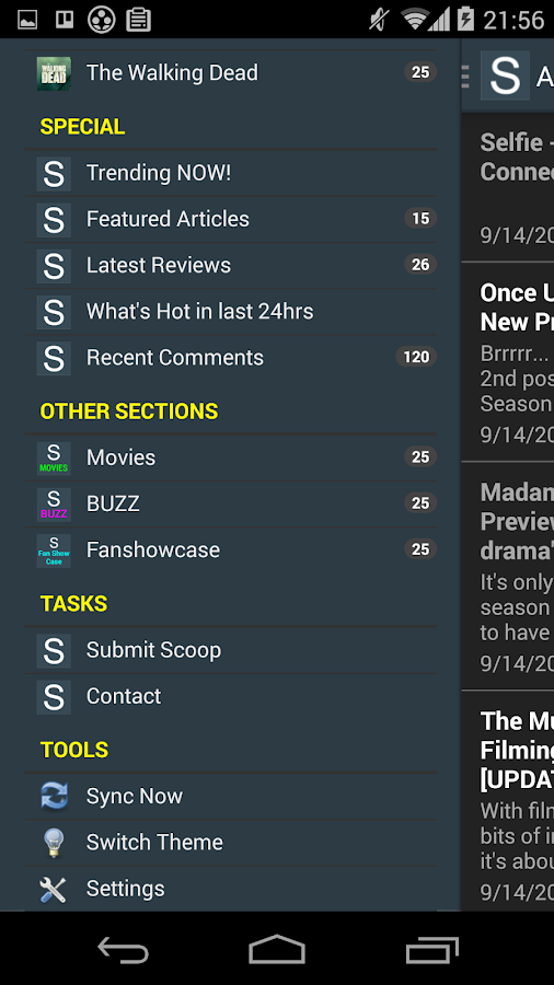 SpoilerTV App- screenshot
