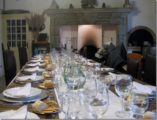 dinner table at 'I Vallicelli'