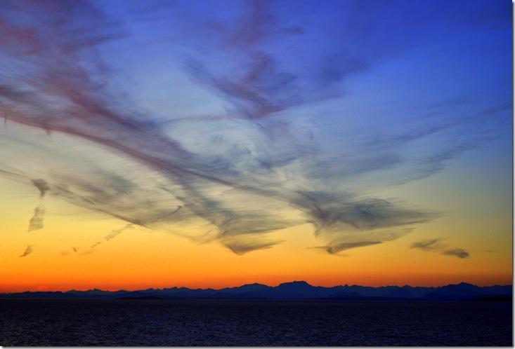 first sunset aboard ship