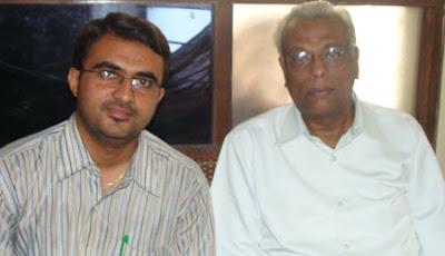 Devang Vibhakar with Gijubhai Bharad