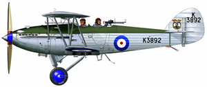 A Hawker Hart of 605 Squadron, 1935