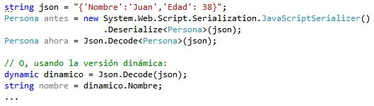 Deserialización JSON a objeto