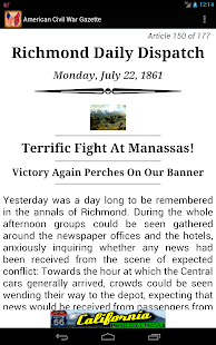 American Civil War Gazette- screenshot thumbnail