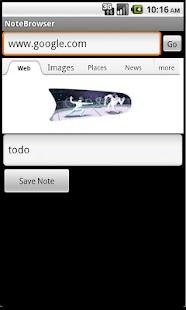 NoteBrowser- screenshot thumbnail