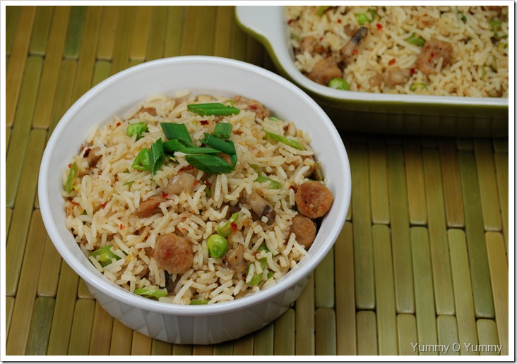 Sausage and Veggie Fried Rice